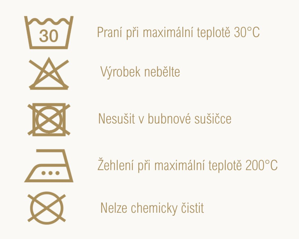 Pokyny k praní